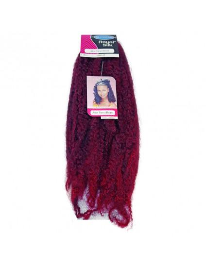 Cabelo Afro Twist Marley Braid - Cor Preto Com Vermelho (T1B/Bug)