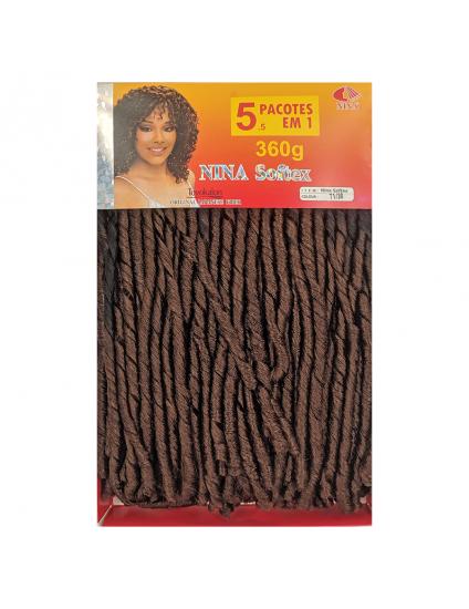 Cabelo Sintético Nina Softex Crochet Braid - Pacotão Cor (T1/30)