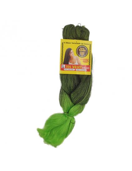 Cabelo Sintético Jumbo 399g Ombre - Verde Mesclado (1TLIGHTGREEN2)