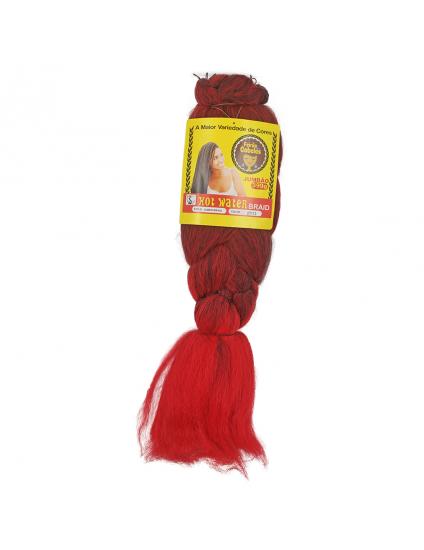 Cabelo Sintético Jumbão Ombre 399g - Cor Preto com Vermelho Claro (2T/113)