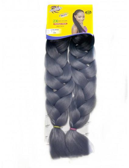 Cabelo Ultra Jumbão Ombre Hair 2-11 (Preto Com platinado)- Ser Mulher