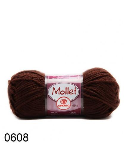 Lã Mollet Cor Chocolate