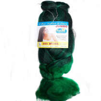 Cabelo Sintético Jumbão 360g Cor  Verde Bandeira mesclado com Preto (1T2615)