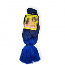 Cabelo Sintético Jumbão 399g Ombre - Cor Preto com Azul (1T/BLUE)