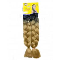 Cabelo Ultra Jumbão Ombre Hair 2-16(Preto Com Mel)- Ser Mulher
