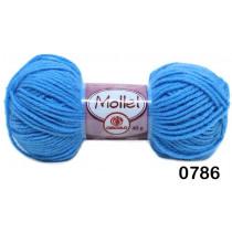 Lã Mollet Cor Azul Médio