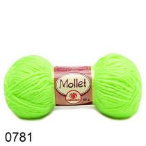 Lã Mollet Cor - Verde Neon