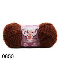 Lã Mollet Cor Marrom Médio