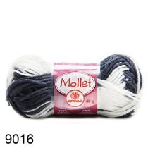 Lã Mollet Cor - Zebra