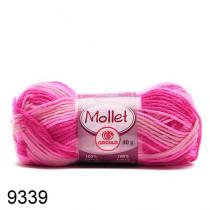 Lã Mollet Cor -Mescla Pink