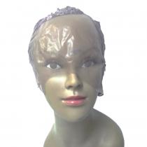Touca para confecção de perucas lace front com divisão de lado - Marrom