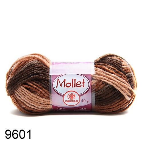 Lã Mollet Cor Marrom Madeira