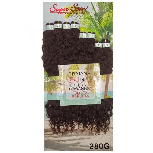 Cabelo Orgânico Praiana cor 4 (Castanho)