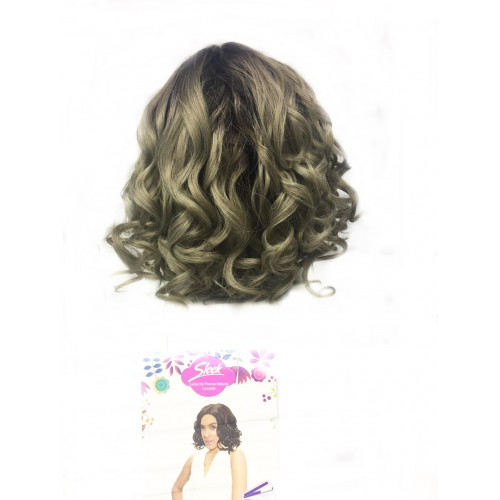 Peruca Wig GiGI Cor (TT6/STREEL) Ombre com Cinza Platinado