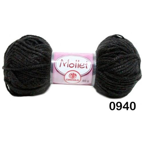 Lã Mollet Cor Preto